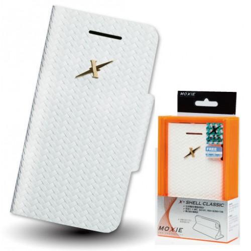 X-Shell iPhone5/5S 防電磁波真皮掀蓋套(雪花白)