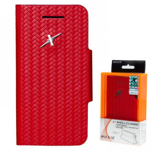 X-Shell iPhone5/5S 防電磁波真皮掀蓋套(魔力紅)