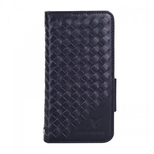 Moxie X-Shell iPhone 7 真皮編織紋防電磁波手機套 / 紳士黑
