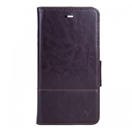 Moxie X-Shell iPhone 7 Plus 皮革質感防電磁波手機套/ 巧克力黑
