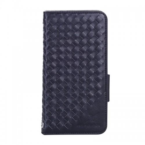 Moxie X-Shell iPhone 7 Plus 真皮編織紋防電磁波手機套 / 紳士黑