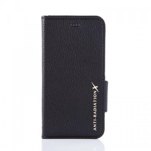 X-SHELL IPHONE 6/6s 防電磁波真皮手機皮套 (荔枝紋拼接 經典黑)