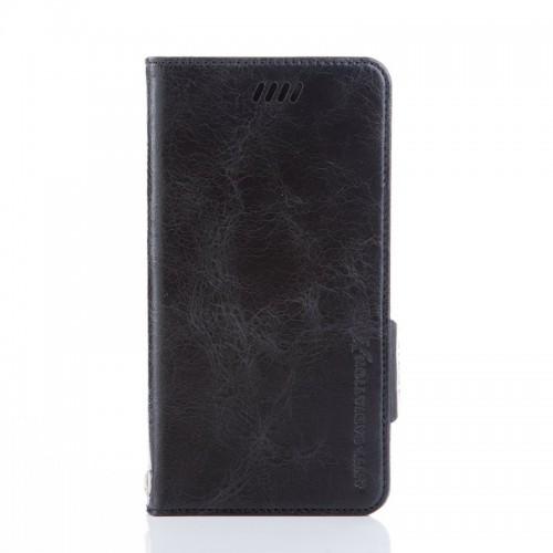 X-SHELL IPHONE 6/6s 防電磁波真皮手機皮套 (仿古蠟皮 黑色)