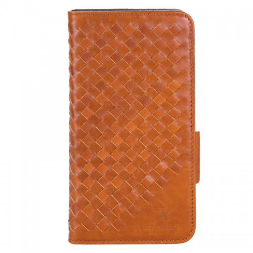 Moxie X-Shell iPhone 7 Plus 真皮編織紋防電磁波手機套 / 復古駝