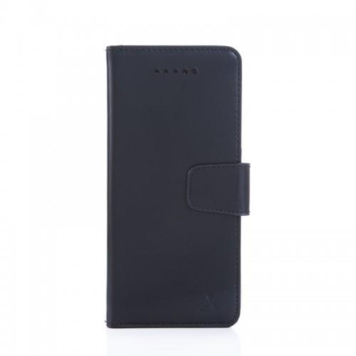 X-SHELL 4.7-5.5吋通用型 防電磁波真皮手機皮套 (旗艦黑)