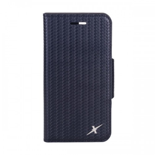 Moxie X-Shell iPhone 7 真皮格紋防電磁波手機套 / 紳士黑