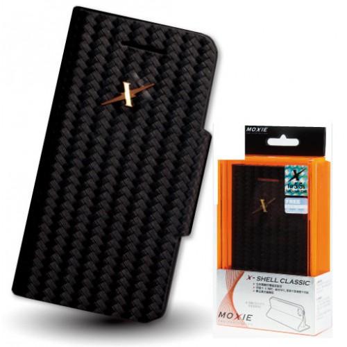 X-Shell iPhone5/5S 防電磁波真皮掀蓋套(經典黑)